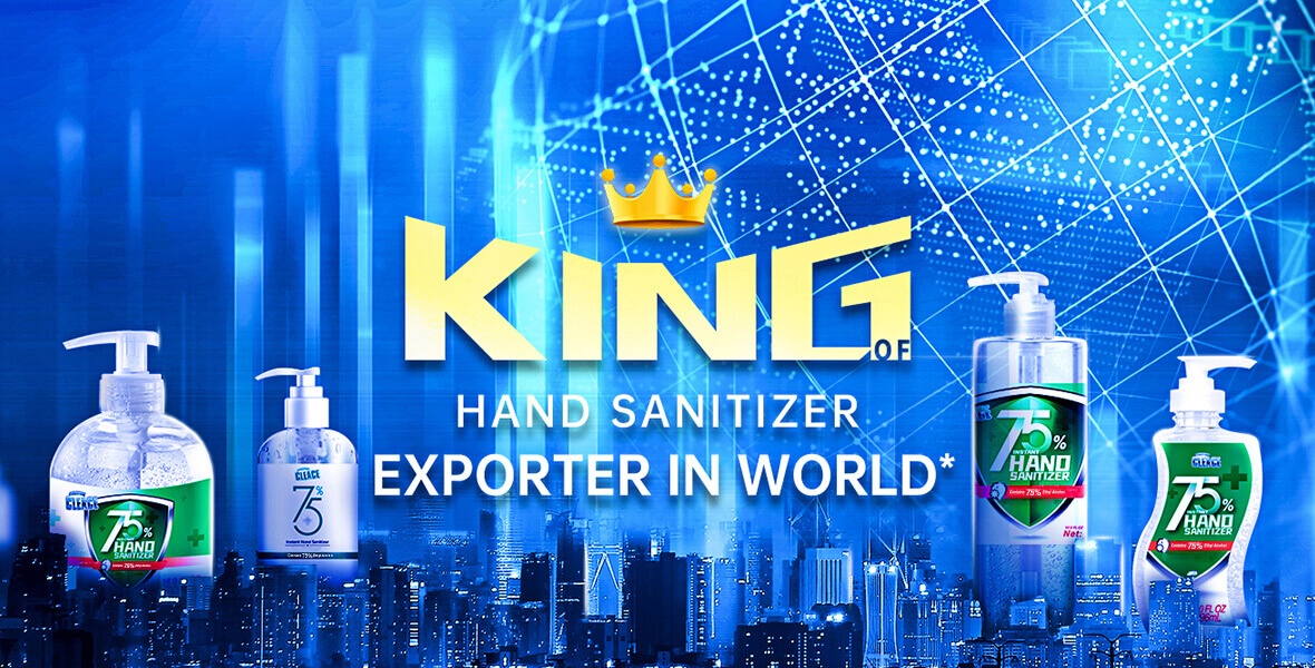 Daily Output 3 Million Pieces! AoGrand Group Makes  King Instant Hand Sanitizer Brand-CLEACE!