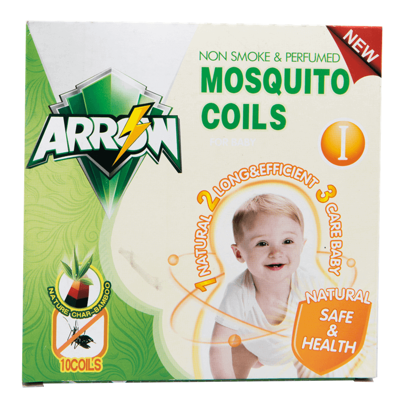 Non-Smoke & Perfumed Mosquito Coils Natural Safe & Health For Baby & Kids ARROW