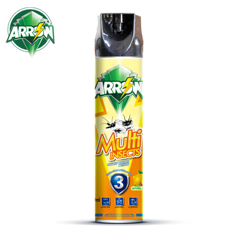 Insecticide Spray Natural Lemon Fragrance 600ml ARROW