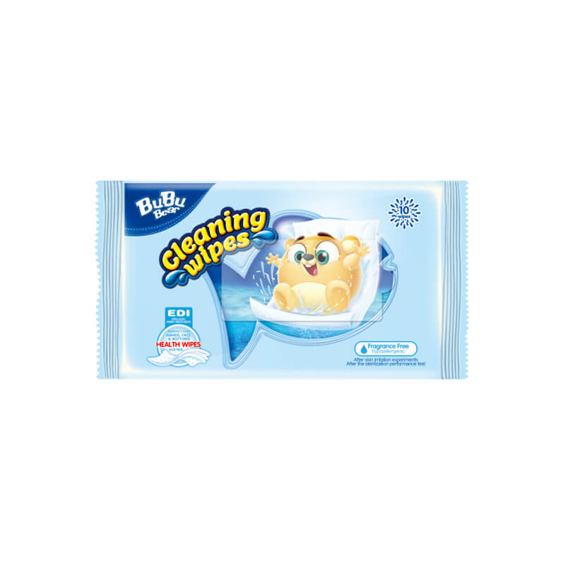 Cleaning Wipes Fragrance Free 10 wipes BUBUBEAR