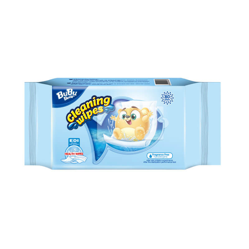 Cleaning Wipes Fragrance Free 80 wipes BUBUBEAR