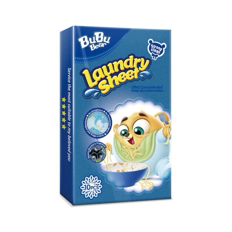 Strong Clean Laundry Sheet Travel Pack 10pcs BUBUBEAR