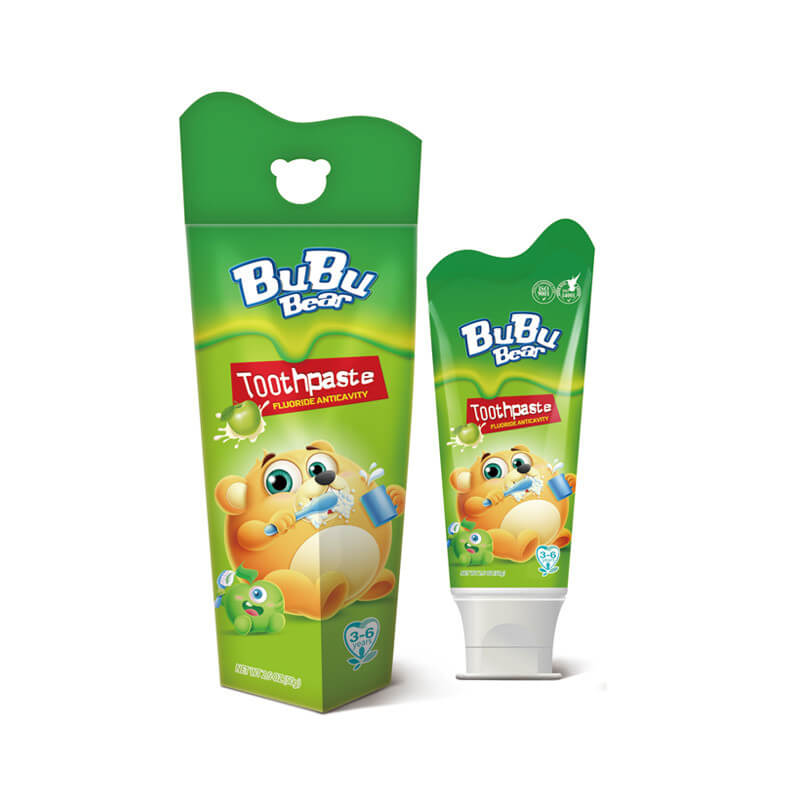 Toothpaste Fluoride Anticavity Greenapple BUBUBEAR