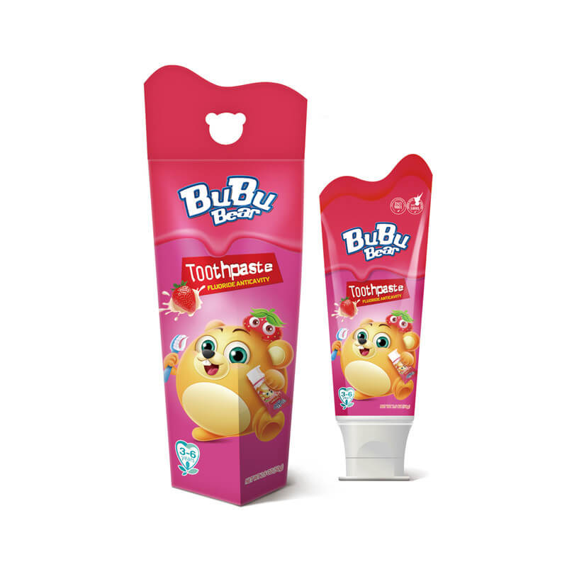 Toothpaste Fluoride Anticavity Strawberry BUBUBEAR