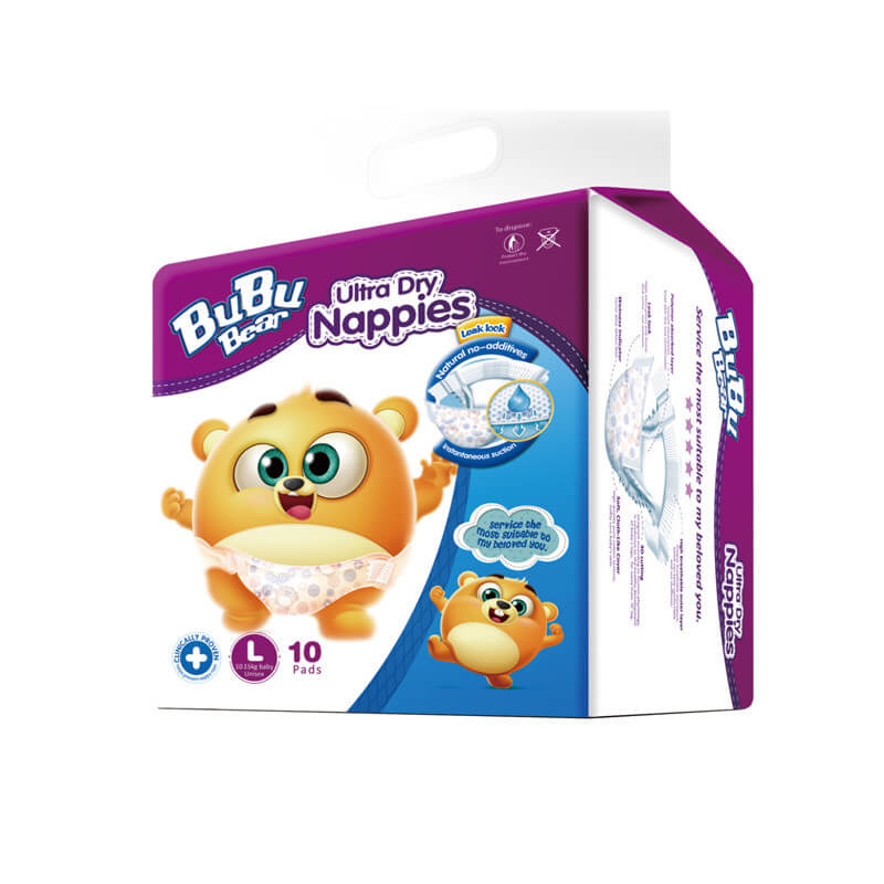 Ultra Dry Nappies 10pads L 10-15kg Baby Unisex BUBUBEAR