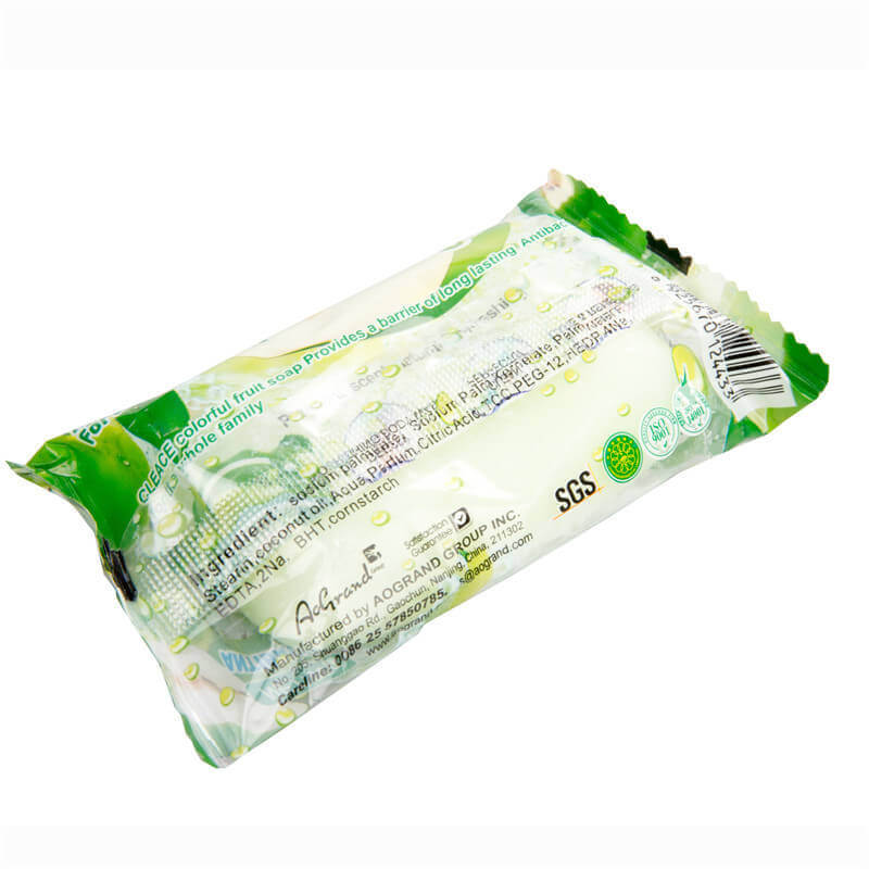 Green Apple Perfumed Beauty Soap 75g Bags-Packed CLEACE