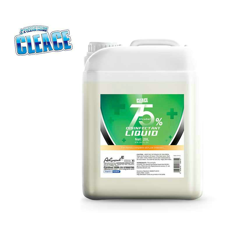 75% Alcohol Disinfectant 20kg CLEACE