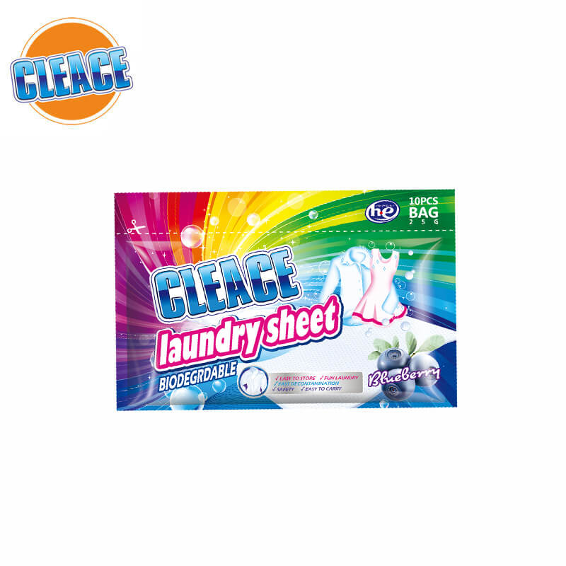 Laundry Sheet Blueberry Perfumed 10pcs CLEACE