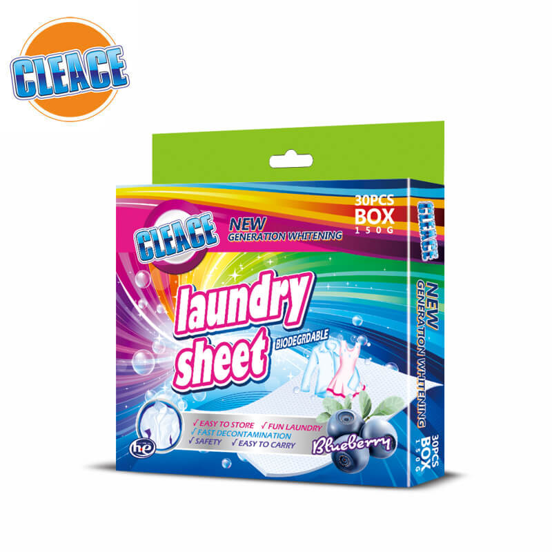 Laundry Sheet Blueberry Perfumed 30pcs CLEACE