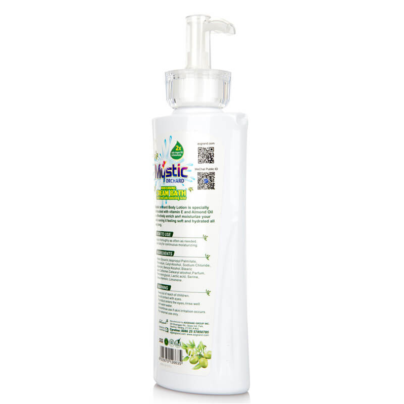 Orchard Moisturising Cream Bath Contain Amino Acids Moisturizing Factor Olive 800ml MYSTIC