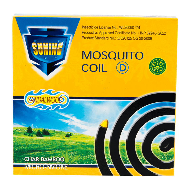 Micro-Smoke Mosquito Coil Char-Bamboo Sandalwood D 130mm SUNING